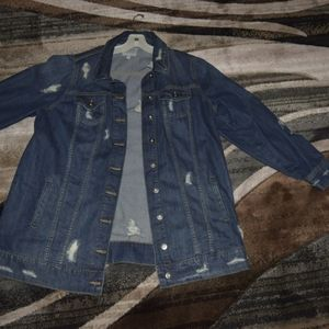 Ripped denim jacket by Torrid size 2